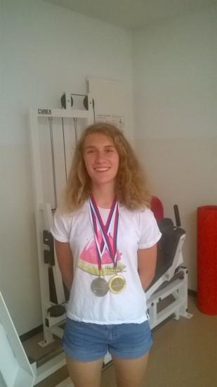 Elena Pezzati - oro a squadre e argento nello sprint individuale ai campionati europei juniores di corsa d'orientamento